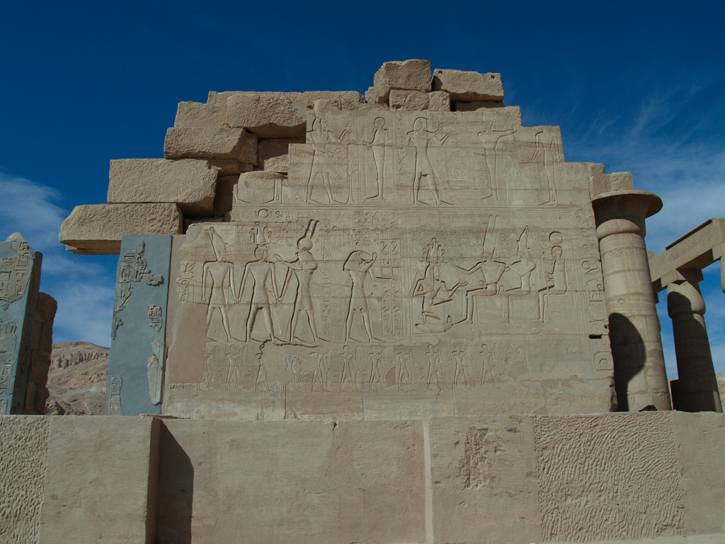 The Coronation Wall in the Ramesseum. © Ph. Martinez