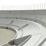Amphithéâtre de Lutèce, vue de la cavea