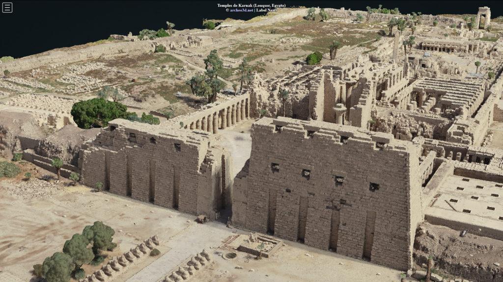 Modèle photogrammétrique des temples de Karnak