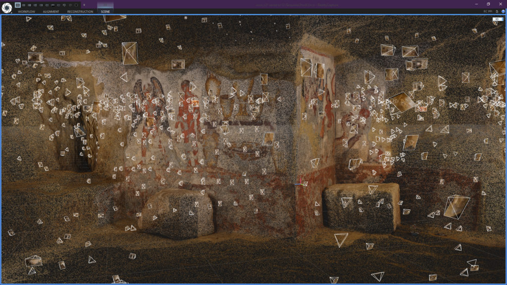 Nuage de points Tomba dell'Orco, dans Reality Capture