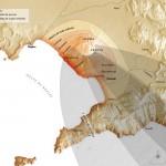 Carte. Éruption du Vésuve