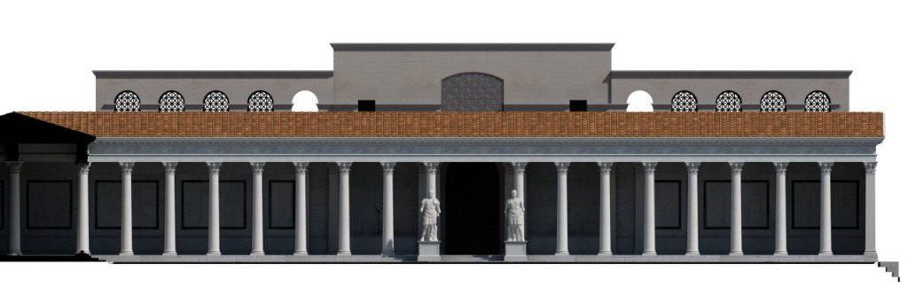 Reconstitution du Temple de Diane, d'après Naumann