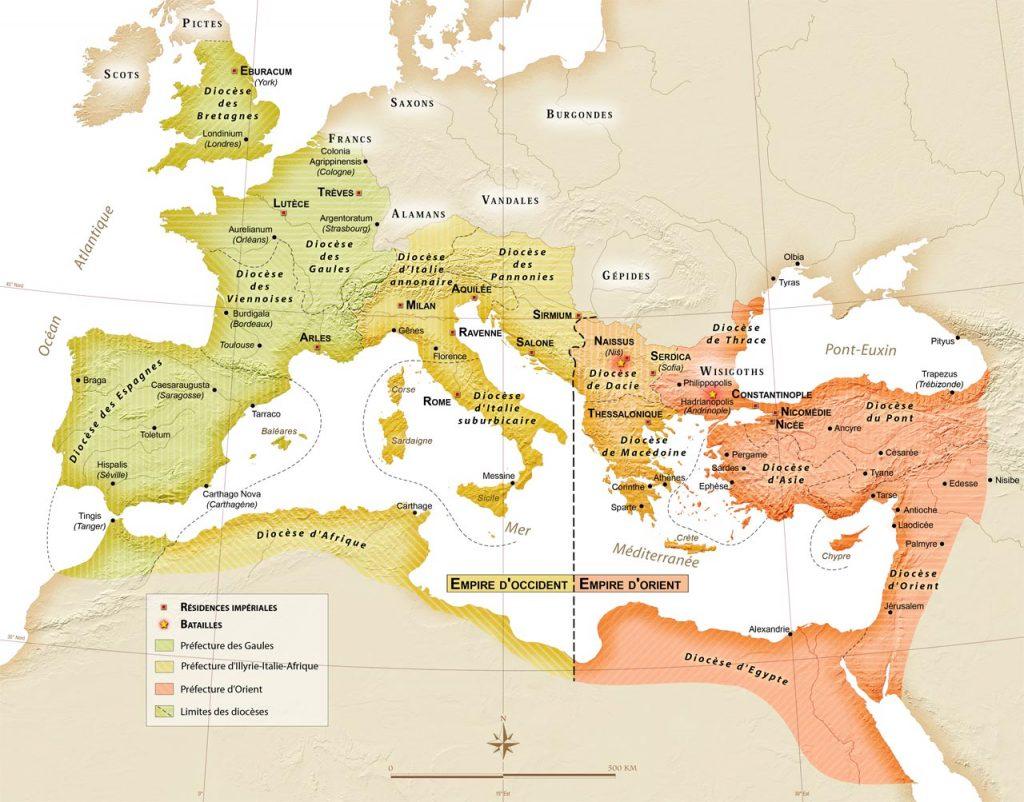 L'Empire romain à la fin du IVe siècle
