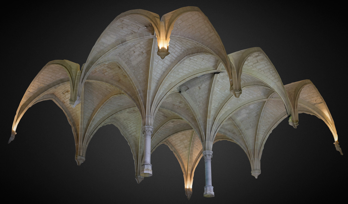 Voute de la salle du Chapitre, Abbaye de Maubuisson