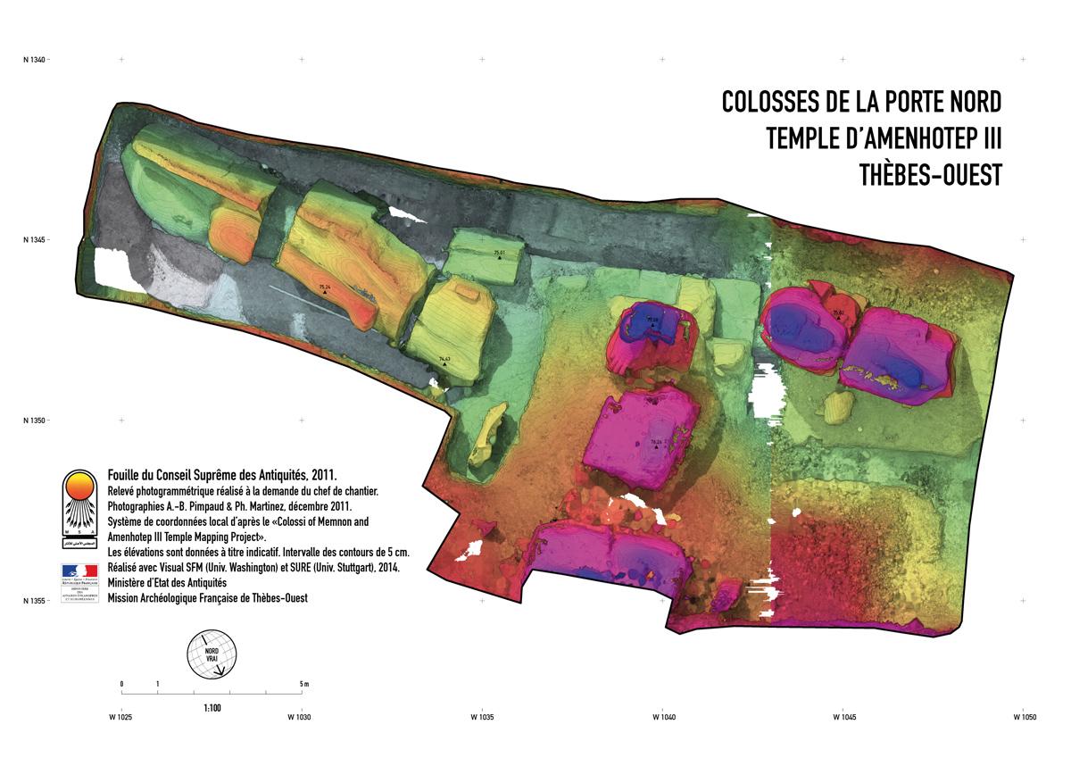 Colosses de la Porte Nord - Modèle Numérique de Surface
