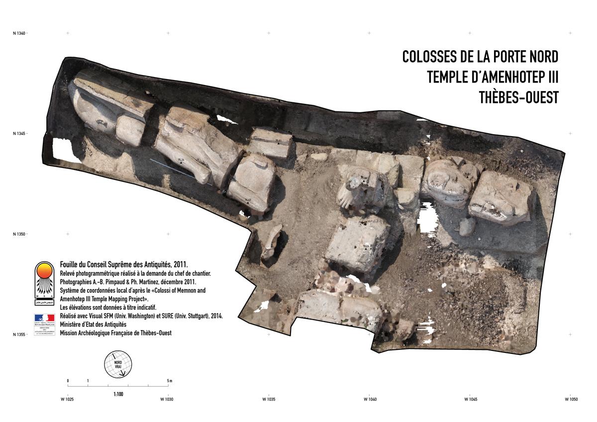 Colosses de la Porte Nord - Orthophoto
