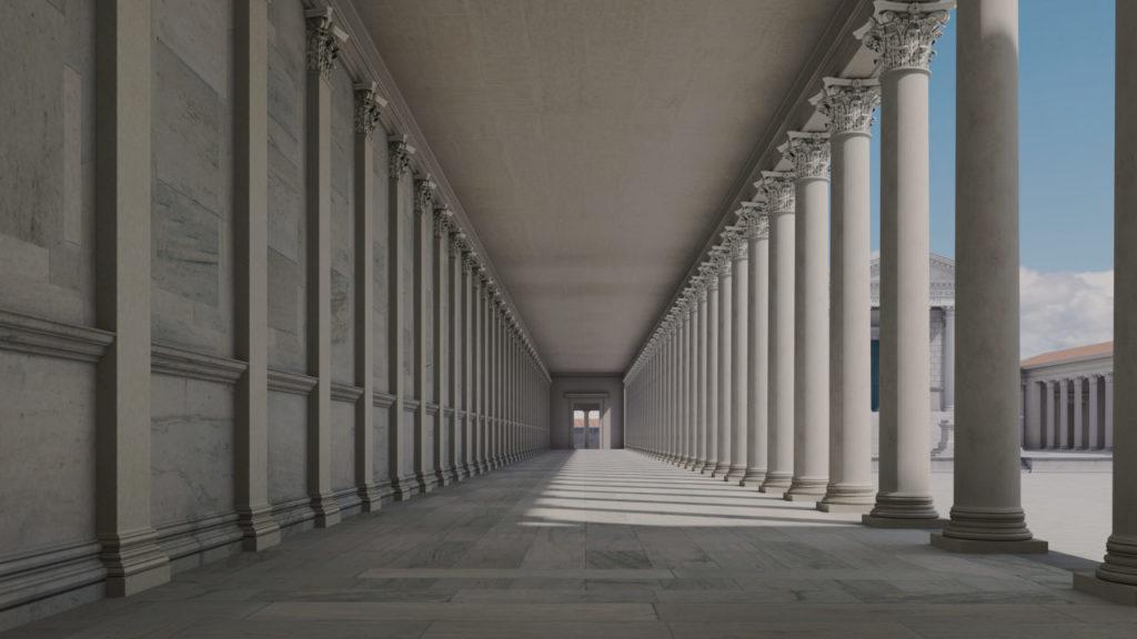 Vue du forum de Nîmes